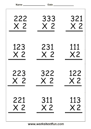 Number 2 Worksheet Excellent Multiplying Three Digit By Two 36 Per Page A 2 Numbers