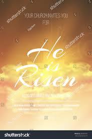 he risen vector easter religious poster stock vector 380307901