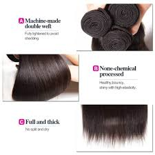 Double Weft Hair Extensions by Klaiyi Virgin Brazilian Straight Hair Weave 4 Bundles U2013 Klaiyi