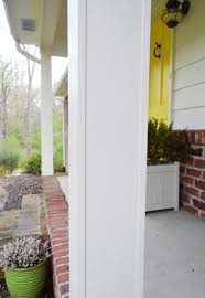 how we boxed out our old curvy porch columns young house love