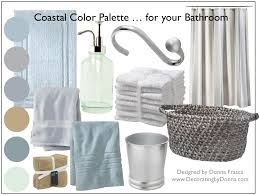 a coastal color palette for your bathroom decorating by donna