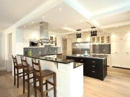 kitchen with an island kitchen island with breakfast bar trendy l shaped kitchen photo in