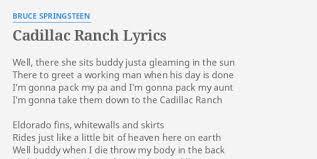 lyrics cadillac ranch cadillac ranch lyrics by bruce springsteen well there she sits