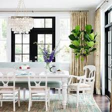 blue dining room curtains design ideas