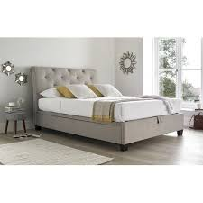 beautiful upholstered ottoman bed with york king size slate grey