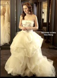 blair wedding dress spotted gossip blair waldorf wears our vera wang cover