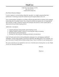 exle resume letter best data entry cover letter exles livecareer