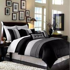 White Comforter Sets Queen Black And White Bedding Ebay