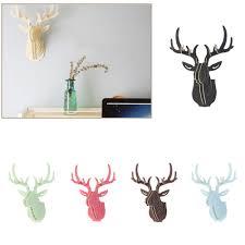 compare prices on 3d deer head online shopping buy low price 3d excellent 3d puzzle wooden diy model wall hanging deer head elk wood animal wildlife sculpture figurines