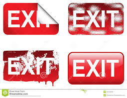 decor decorative exit signs artistic color decor photo on