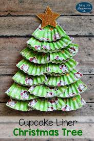Best Way To Decorate A Christmas Tree Cupcake Liner Christmas Tree Craft For Kids