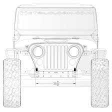 jeep front drawing frame built jeep bumper 231011 cj