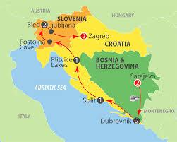 Bosnia Map K801 Bosnia Croatia U0026 Slovenia 11 Day Escorted Tour