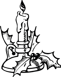 clipart of a christmas candle