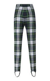 Tartan Tartan Slim Leg Stirrup Pants By Burberry Moda Operandi