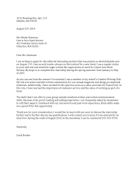 Example Cover Letter For Medical Assistant Cover Letter Internship Format Images Cover Letter Ideas