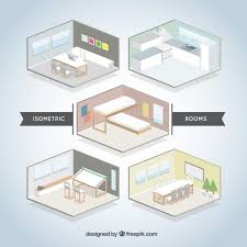 room creator isometric room set vector free download
