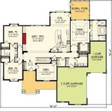 Split Ranch House Plans I Like The Foyer Study Open Concept Great Room And Kitchen Portion