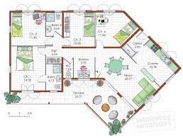 plan maison etage 4 chambres gratuit cuisine plan maison contemporaine plain pied chambres maison