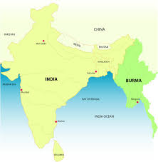 India On Map by Burma Map With India