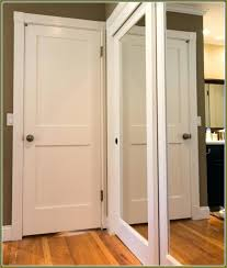 Bifold Mirrored Closet Doors Lowes Creative Folding Door At Lowes Gloanna Win