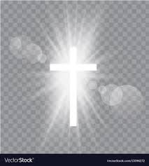 religioush three crosses with sun rays royalty free vector