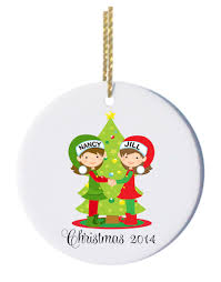 personalized christmas ornaments couple with