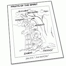 fruit of the spirit coloring page super church