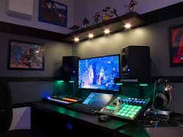 L Shaped Desk Gaming Setup by Pin By Brandi Boudreau On House Pinterest Gaming Setup Studio