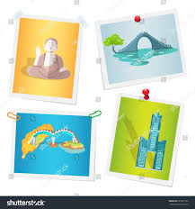 images taiwanese national attractions attached by stock vector