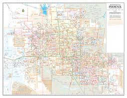 Phoenix Map by Buy Metro Phoenix Ac Streets Zip Code Wall Map Laminated Yellow 1