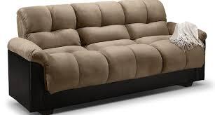 futon white click clack faux leather futon sofa bed all over