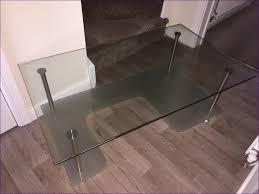 living room coffee table smoked glass large glass top coffee