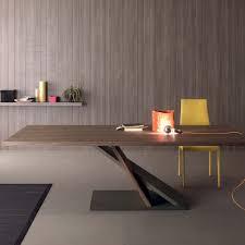 tavoli moderni legno tavolo design in metallo e legno impiallacciato noce 240x105 cm