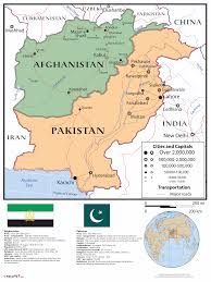 Kabul Map Reviews For Afghanistan Pakistan Combo Wall Map Maps Com