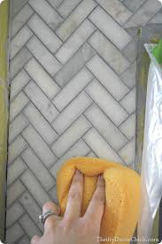 tiling a fireplace surround from thrifty decor