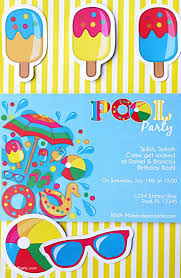 how to make pool party invitations 137 best party ideas invitations images on pinterest birthday