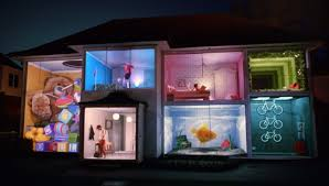 of hiscox the house i grew up in projection mapping