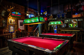 2 red and brown pool tables free image