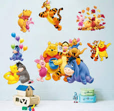 3d winnie the pooh eeyore removable wall stickers decal kids home