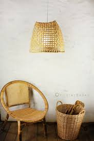Wicker Pendant Light by Bamboo Pendant Light Up Cycled Basket Ceiling Lamp Minimalist