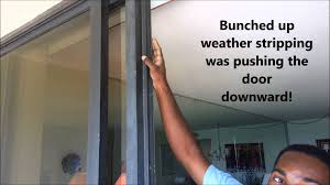 Glass Door Weatherstripping by Sliding Glass Door Glass Separation Video Youtube