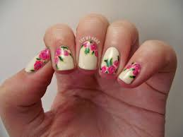 try my hand tutorial rose floral alphabet nail art challenge