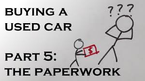 Example Of Bill Of Sale For A Used Car by Buying A Used Car Part 5 The Paperwork Youtube
