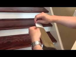 installing peel and stick carpet stair treads youtube