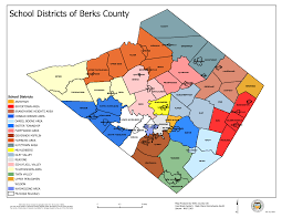 Map Of Berks County Pa County Schools