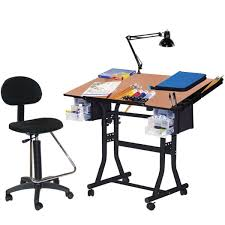 Drafting Table And Chair Set Martin Universal Design Black Creation Station Drafting Table
