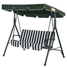 hammock bench amazon com palm springs garden 3 seater hammock cushioned swing