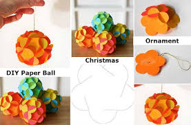 diy paper ball christmas ornament diy crafts and ideas