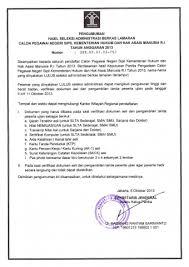 membuat surat keterangan berbadan sehat pengumuman penerimaan cpns kemenkumham ri tahun anggaran 2013